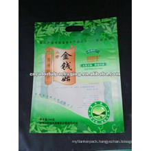 Dried mushroom bag with 1 carry holes on top/promotional plastic packing bag
