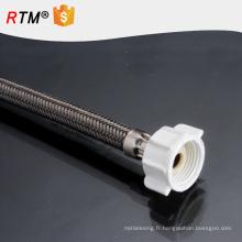 B17 304 tressé fil d'acier inoxydable tuyau flexible en métal