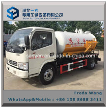 Sewer Suction Tanker Truck Dongfeng 5000 Liters Sewage Sucking Truck for Sale