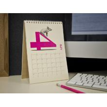 Calendario de escritorio personalizado de cartón de alta calidad