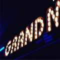 Vintage Light Up Marquee Letters Cartas