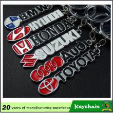 Vente chaude haute qualité voiture emblème porte-clés en métal avec la lettre