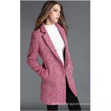 Slim Women′s Winter Wool Coat Woman Fashion Formal Coat
