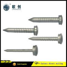 Reutilizável aço inoxidável parafuso Thread Thorasic Chest Trocars
