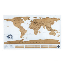 White Coated Paper Material Scratch Map And 82.5*59.4cm Size Scratch Off World Map