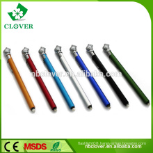 Pencil type plastic car tire pressure gauge with keyring