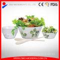 Wholesale 5PC Frost Glass Salad Bowl Set Frost Design