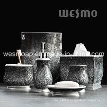 Accessoires de bain Polyresin avec verre Crackle (WBP0825A)