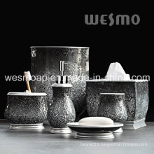 Polyresin Bath Accessories with Crackle Glass (WBP0825A)