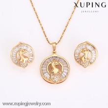 62638-Xuping Moda Mulher Jewlery Set com Banhado a Ouro 18K