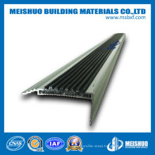 Hospital Anti Skid Aluminum Exterior and Interior Rubber Stair Nosing for Tile