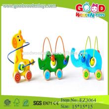 Juguetes animales encantadores de los granos para los cabritos animales juguetes de madera de los juguetes para los juguetes animales de los cabritos
