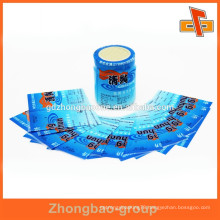 Custom printed plastic PVC heat shrink film for bottle label in roll for packing