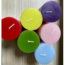 Bougie de cire de paraffine colorée de 7,5 cm