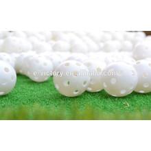 Nova prática plástico golfe bolas luz do fluxo de ar oco plástico prática formação bolas de golfe alibaba express