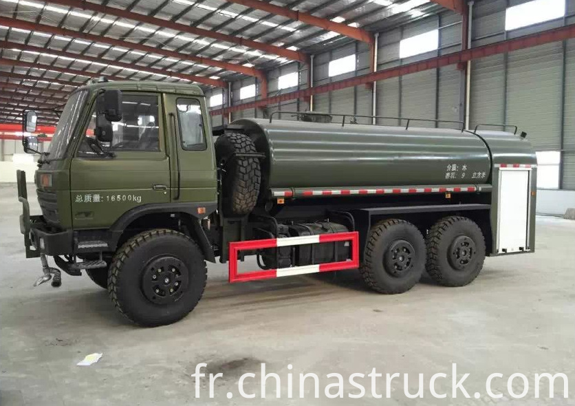 Dongfeng 6x6 water cart 10,000 liters