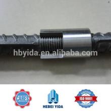 Empalme mecánico de barras de refuerzo de barras de refuerzo de 12 mm para la construcción y la construcción