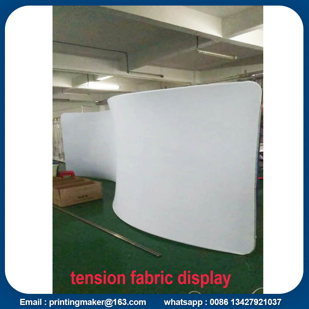 10ft Curved Fabric Tension Trade Show Display Booth
