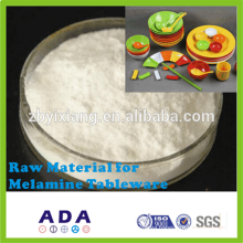 Raw material for melamine dish