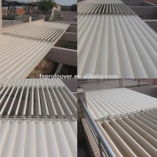 Buy wholesale from China balcony pergola opening roof waterproof louvered roof covers