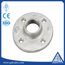 "China supply customized galvanized malleable iron floor flange 1/2"" 1"" 3/4""with high quality"