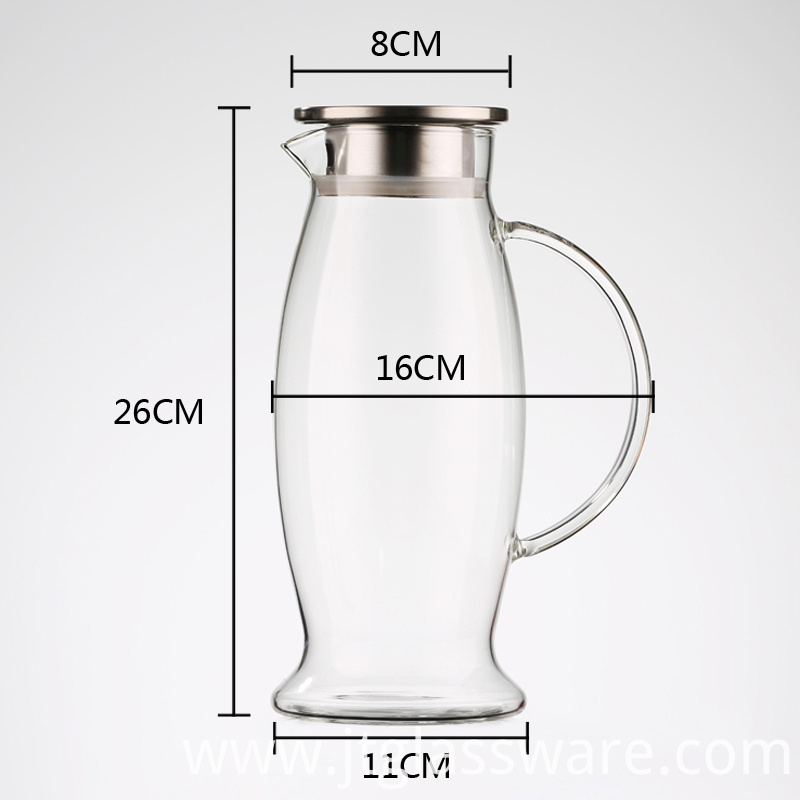 Glass pitcher for homemade Juice