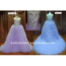 Artesanato pesado com cristal brilhante Apenas veja a imagem maior Vestido de casamento 2011 cristal