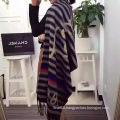 Stripe Jacquard Print Fleece Scarf
