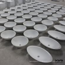 Lavatório de resina composta / acrílico superfície sólida pia do banheiro