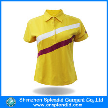 China Supplier Cheap Wholesale Plain Color Women Polo Shirts