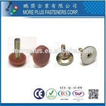 Taïwan en acier inoxydable 18-8 cuivre nivelleur en laiton nivelleur réglable à ongle en plastique
