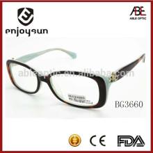 2015 novos óculos de óculos de acetato de senhora custom designer designer com CE & FDA