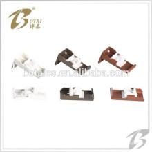 Decoración simple o doble de aluminio barra de cortina soporte