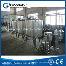 Acero inoxidable CIP Cleaning System Alcalino de limpieza de la limpieza en el lugar Equipo de limpieza industrial