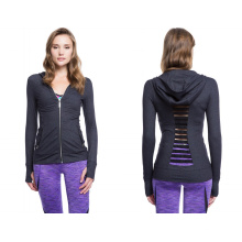 87% нейлон 13% Spandex с силовой сеткой Подробнее Модная женская спортивная куртка