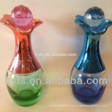 Botella en forma de lágrima de perfume de vidrio vacío de 60 ml