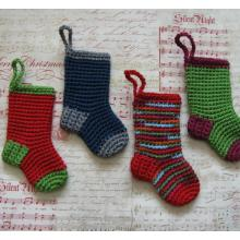 Color Christmas Stocking Decoration or Gift Card Holder