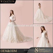Nuevo vestido de novia de moda de diseño especial para la novia