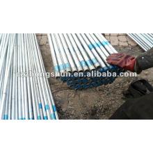 Tuyau en acier sans soudure galvanisé à chaud BS1387 / ASTM A53 GrB / Q235 / SS400