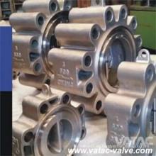 Válvula de retención de doble placa de acero inoxidable completa