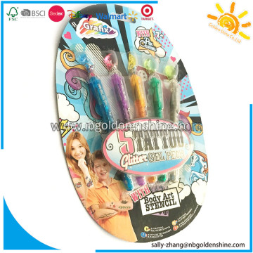 5 Tattoo Glitzer Gel Pens
