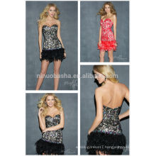 2014 Sexy Sweetheart Low Back Above Knee Lace Sheath Short Prom Dresses Gowns With Feathers Crystal Accent Top Rated NB0699