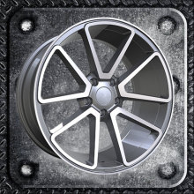 Alloy wheels in triangle window spokes