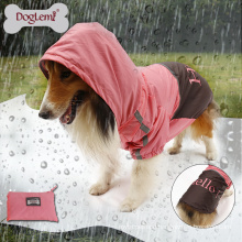 Wholesale Large Dog Portable Waterproof Two Tone Dog Raincoat