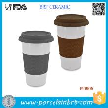 Easy to Carry Anti-Heat Ceramic Travel Mug