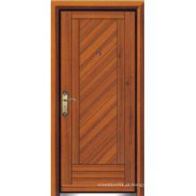 Porta blindada de madeira de aço estilo turco (LTK-D304)