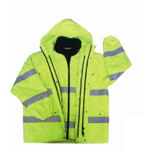 High Visibility 6-in-1 Jacket with Oxford Waterproof Fabric, Meet En