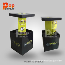 Custom Head Phone Cardboard PDQ with Plastic Hook/Cardboard Box Manufacturer/Table Top Cardboard Display (BP-SR519)