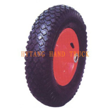 rubber wheel 3.50-8 steel rim. Diamond pattern