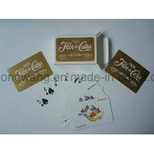 Carte de jeu de cartes à jouer en plastique, jeu de société en PVC
